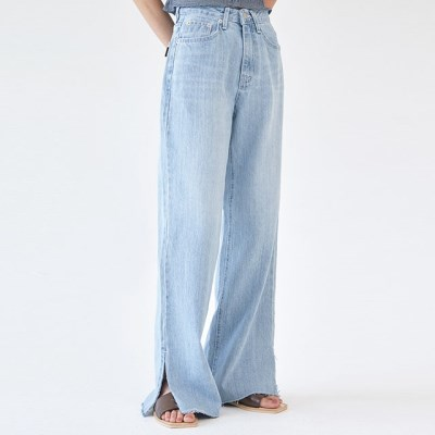 slit loose denim pants (s, m)_(1281541)