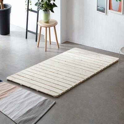 [리코베로]솔리드 소나무 원목 접이식 침대 깔판 싱글/슈퍼싱글