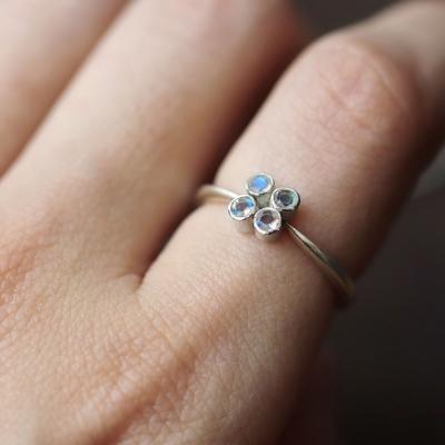 [normaldott] Moon bouquet silver ring | type 1