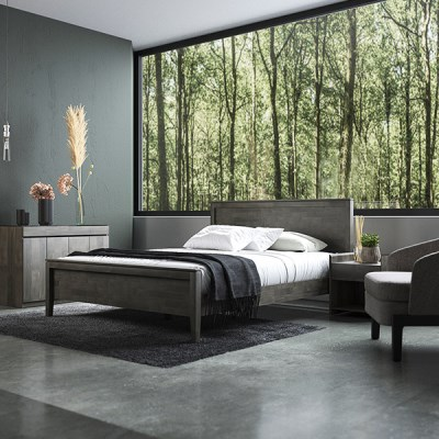 [DANJAM] 단잠 디프 원목 침대,본넬매트(SS)