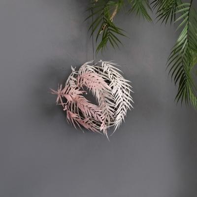 [조화] 네스트 둥지 (M사이즈) - 핑크 야자 리스