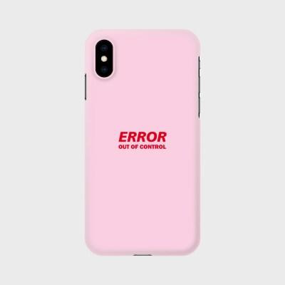 에러 핸드폰 케이스 핑크