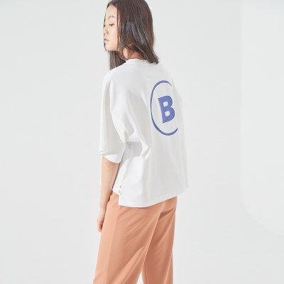'B' CROP T-SHIRT (WHITE)