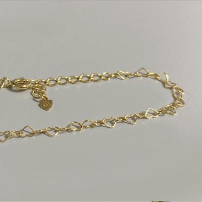[OBLING] Heart Gold bracelet - Silver925 / 16k도금