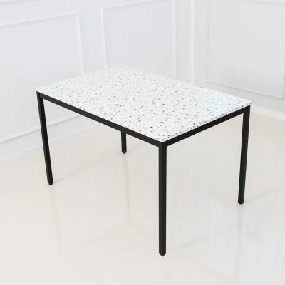 테라조 4인 식탁 테이블 마블 대리석st 화이트마블
