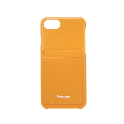 Fennec Leather iPhone7/8 Card Case - Mandarin