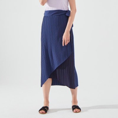 MOANA PLEATS SKIRT (NAVY BLUE)