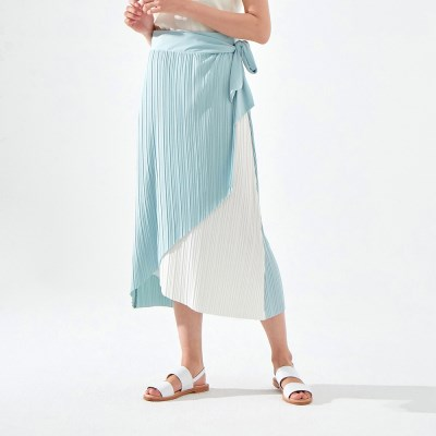 MOANA PLEATS SKIRT (IVORY MINT)