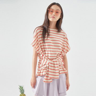 MARINE BBAMA T-SHIRT (IVORY/ RED)