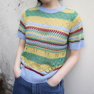 vintage colors short knit (3colors)_(1284012)