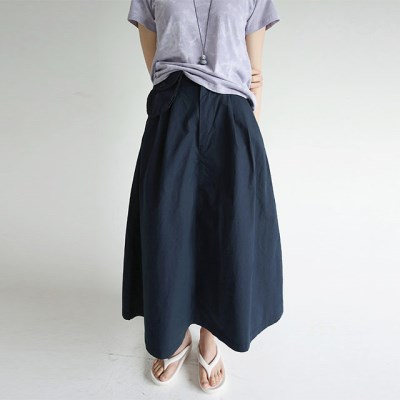 cutie pocket detail maxi skirts (navy)_(1284006)