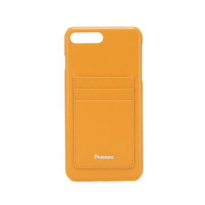 Fennec Leather iPhone7+/8+ Card Case - Mandarin