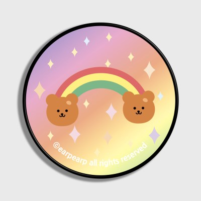 Rainbow bear-pink/yellow(스마트톡)_(1184138)