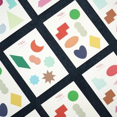 모양 스티커 4종 variety shape stickers 4 types