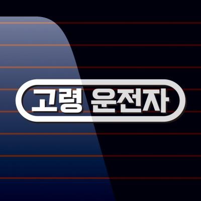 캐찹 자동차스티커 가로라인 고령운전자_02