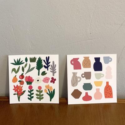 플라워&포터리 스티커 flower&pottery stickers
