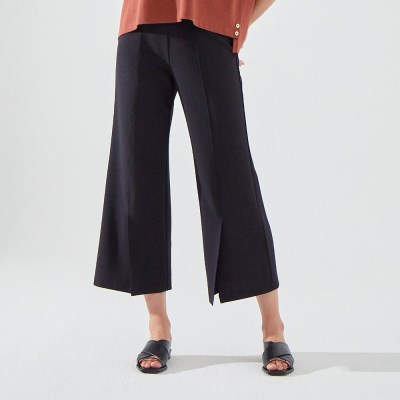 TILDA MAGIC SLIT PANTS (BLACK)