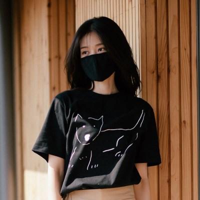 [Organic cotton] The Dog (black)