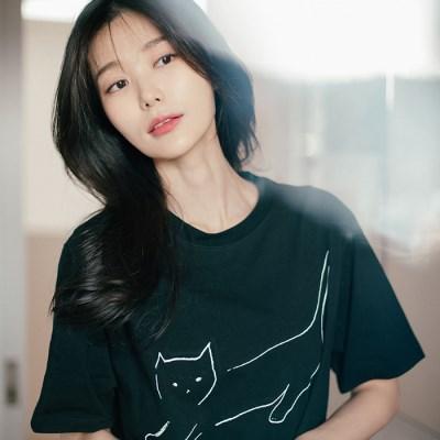 [Organic cotton] The Cat (black)