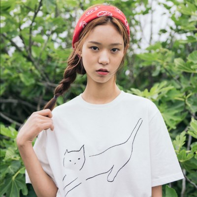 [Organic cotton] The Cat (white ivory)
