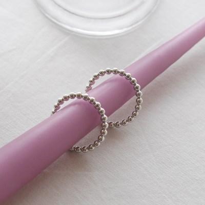 ball line ring earrings (2colors) 大