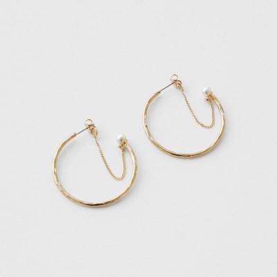 swing preal ring earrings (2colors)