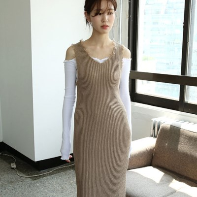 golgi damaged slim dress (2colors)_(1285417)