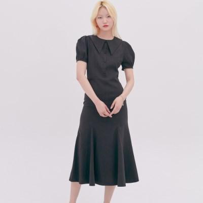 [블랭크] CLASSIC FLARED DRESS-BL