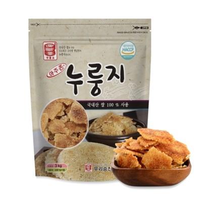 아주존 국내산 쌀로 만든 고소한 누룽지 3kg_(859138)
