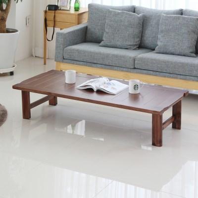 [리코베로]강마루 원목 접이식 거실테이블 1100/1300/1500