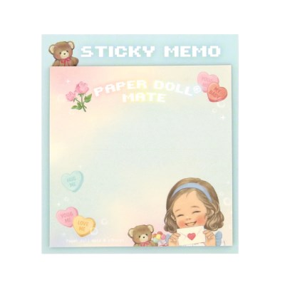 Paper doll mate Square Sticky memo_Alice
