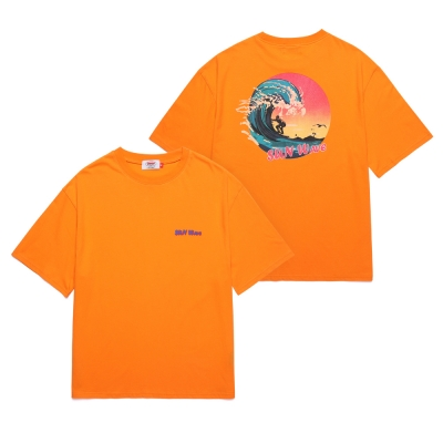 UNION SUN WAVE T-SHIRT - ORANGE_(1288289)