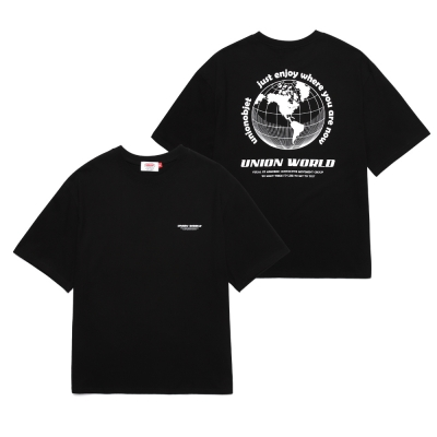 UNION WORLD T-SHIRT - BLACK_(1288285)