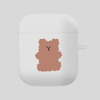 [Airpods] 복실 곰댕이 브라운-화이트_(851748)