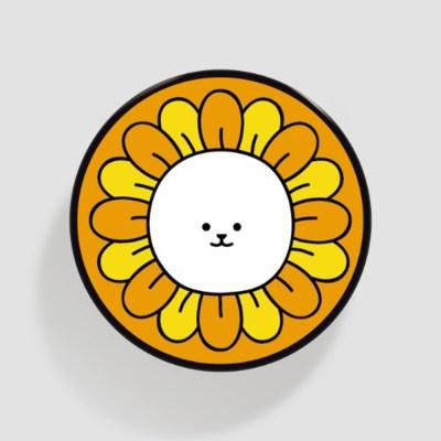 (플라톡) 노란 꽃 퉁글이_(852062)