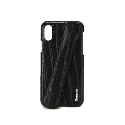 FENNEC LEATHER iPHONE X/XS HANDLE CASE - CROCO BLACK