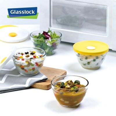 글라스락 햇밥용기 쿠킹볼 330ml_3조 (옐로우)