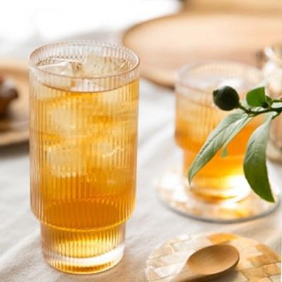 이단크리스탈머그 / 카페유리잔 유리찻잔 커피잔 쥬스잔 물컵