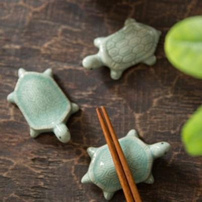 거북이수저받침(디자인랜덤) / 도자기 청자 핸드메이드 수저받침