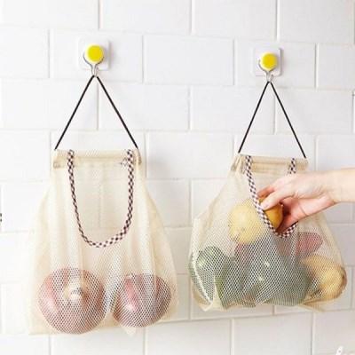 리빙다용도매쉬망 / 주방 욕실 과일 야채 소품 보관망