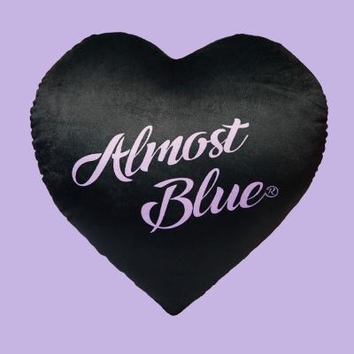 ALMOSTBLUE HEART CUSHION (얼모스트블루 하트 쿠션)