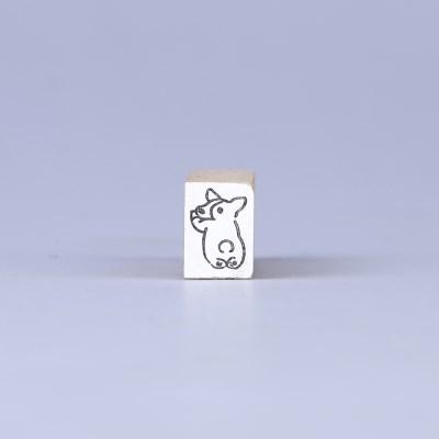 [노낫네버] 웰시코기 궁딩팡팡 우드 스탬프