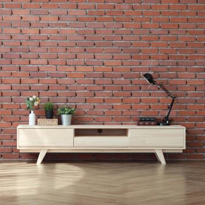 [잉카] 자연주의 편백나무 원목 TV 거실장 1800 티비다이