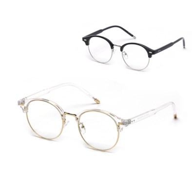 kami et muse Metal double mounting 12103g Glasses