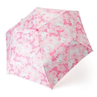 [병행수입] 헬로키티 접는3단 우산(핑크리본)-432211
