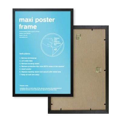 GBeye 정품 포스터 프레임 61x90 액자 (블랙)_(1041284)