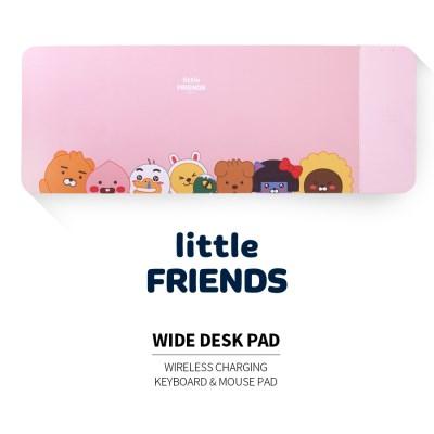 카카오프렌즈 무선충전 마우스패드 핑크/장패드