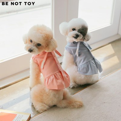 [BE NOT TOY] 셔링 리본 원피스 / 강아지 애견 의류