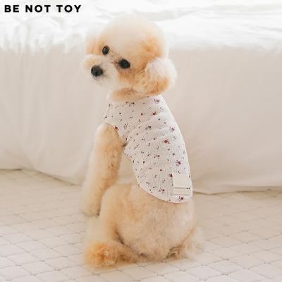 [BE NOT TOY] 플라워 코튼 티셔츠 / 강아지 애견 의류