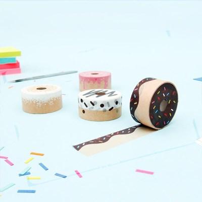 [썩유케이] 도넛 디자인 종이 마스킹 테이프_(1707239)